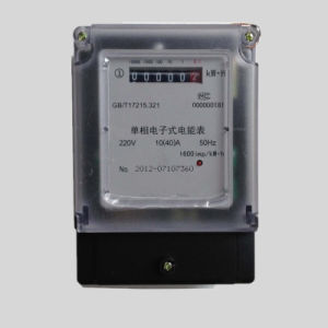 Single Phase Duplicate Tariff Electrical Energy Power Meter pictures & photos