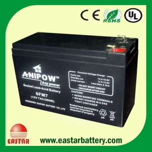 F2 Terminal Wp7-12 12V/7ah Sealed Lead Acid Battery pictures & photos