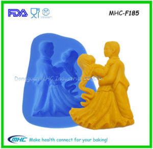 LFGB Silicone Dancing Couples Mold for Wedding, Engage