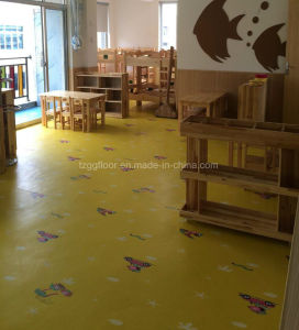 Factory Direct Sale Fiberglass Colourful Kindergarten PVC Flooring for Children pictures & photos