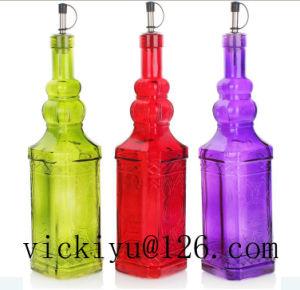 750ml Red Pagoda Glass Bottle Oil Bottle Vinegar Bottle pictures & photos