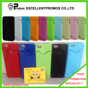 Silicone Mobile Phone Cover with Card Holder (EP-C9055) pictures & photos