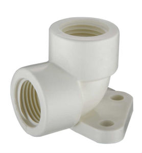 PVC-U Theraded Fittings Elbow with Plate pictures & photos