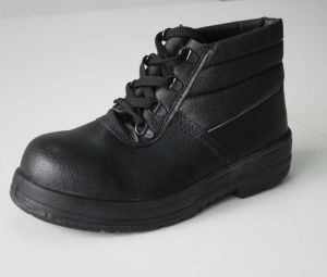 Middle Cut Standard En20345 with Stock Black Safety Shoes
