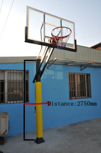 Adjustable Basketball Stand with Glass Basketball Backboard pictures & photos
