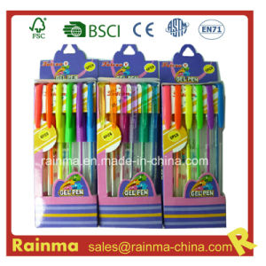 Plastic Gel Ink Pen in Paper Box Packing pictures & photos