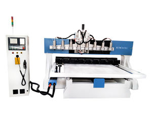 4th Axis Table Moving Router CNC for Wood Stairs pictures & photos