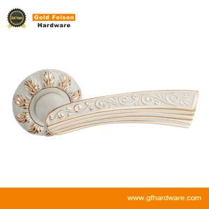 Zinc Alloy Door Handle/Ivory Door Handle on Rose (R106-Z133) pictures & photos