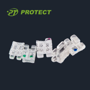 Orthodontic Asthetic Sapphire Ceramic Bracket with Ce / FDA / ISO pictures & photos