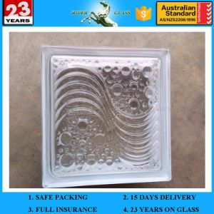 190*190*80mm Acid Pink Cloudy Glass Block with AS/NZS2208: 1996 pictures & photos