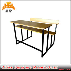 Jas-089 High Quality University Furniture School Double Desk and Chair pictures & photos