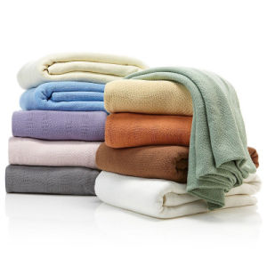 100% Cotton Solid Dyed Air-Conditional Summer Cool Blanket