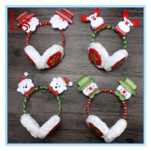 Christmas Head Hoop Headset Big Red Antlers Button Head Hairpin Ear Cover GIF pictures & photos