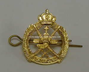 Collar Badge Zinc Alloy Antique Gold Us Army Military Metal Police Badge (CB40426) pictures & photos