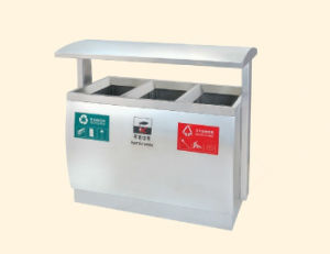 Stainless Steel Outdoor Dustbin (DL14) pictures & photos