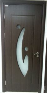 MDF Glass Door with PVC Veneer