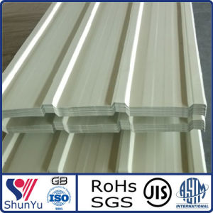 Precoated Aluminium/Aluminum Corrugated Sheets for Roofing in White Color