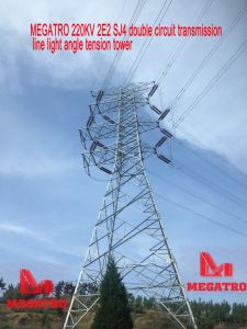 Megatro 220kv 2e2 Sj4 Double Circuit Transmission Line Light Angle Tension Tower pictures & photos