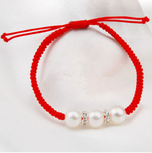 Freshwater Pearl Bracelet with Read Thread pictures & photos