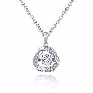 Fashion Jewelry Micro Setting Stone 925 Silver Pendants Dancing Diamond pictures & photos