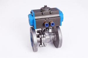 2PC Flanged End with Direct Mounting Pad JIS 10k Ball Valve pictures & photos