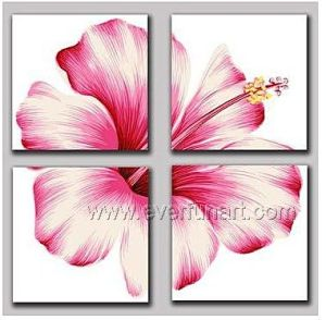 100% Hand Painted Modern Flower Oil Painting pictures & photos