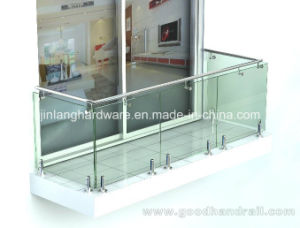 Balcony Stair (Glass Spigot) /Glass Handrail/Railing pictures & photos
