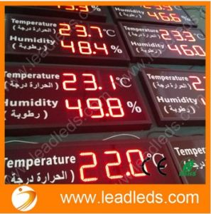 "Shenzhen Factory Manufacture High Brightness Red Color LED Temperature Display 39""X 24"""