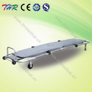 Hospital Stainless Steel Folding Mortuary Stretcher pictures & photos