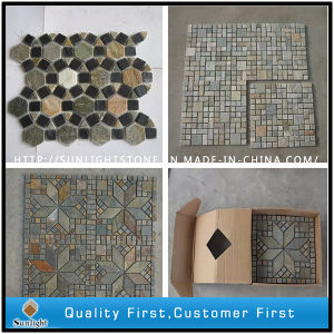Natual Rusty /Colorful Slate Mosaic Stone Tile for Wall Cladding pictures & photos