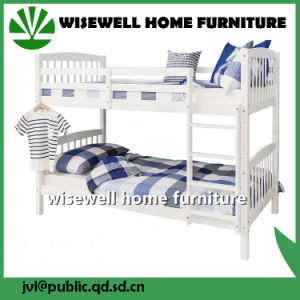 Pine Wood Bunk Bed School Furniture (WJZ-B725) pictures & photos