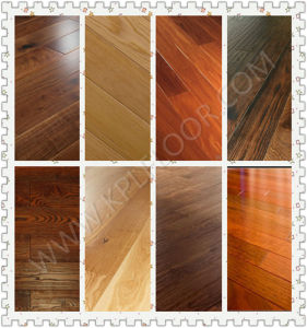 Reactive Stained/Chemical Treated Brushed Engineered Oak Wood Flooring pictures & photos