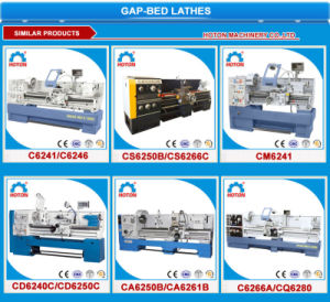 High Precision Metal Horizontal Gap Bed Lathe Machine (C6251 C6256) pictures & photos
