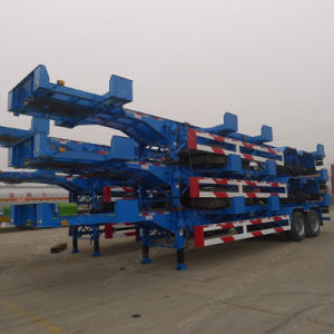 2 Axle 20FT Flatbed Container Semi Trailer/Skeleton Trailer pictures & photos