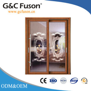 Double Glazed Aluminium Sliding Glass Door with Shutter pictures & photos