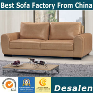 Canada Genuine Leather Sofa in Living Room Furniture (A07) pictures & photos