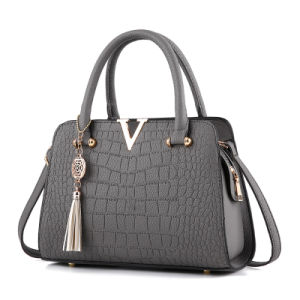 2017 New Shoulder Bag a Pair of Europe and The United States Fashion PU Handbags Wholesale Crocodile Pattern Ladies Handbag pictures & photos