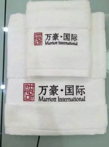 Customized Embroidery Cotton Bath Towel for Hotel pictures & photos