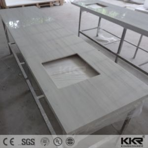 Artificial Stone Solid Surface Bathroom Vanity Top with Double Sink pictures & photos