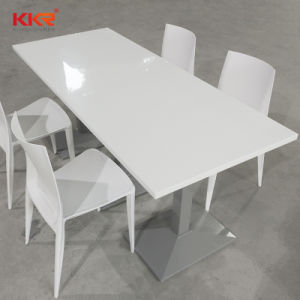 Custom Artificial Stone Resin Coffee Dining Table pictures & photos
