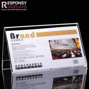 Counter Clear Acrylic Leaflets Holder Menu Display Stand pictures & photos