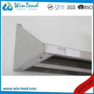 Manufactory Commercial Stainless Steel Kitchen Wall Shelf with Backsplash pictures & photos
