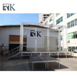 Rk Portabel Aluminum Stage with Adjustiable Legs for Outdoor Event pictures & photos