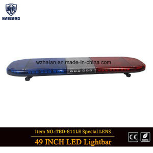 Red and Blue LED Police Lightbar in Special Lens pictures & photos
