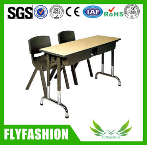 Cheap Classroom Furniture Two Seats School Desk with Chair pictures & photos