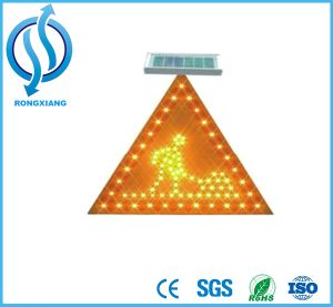 Pedestrian Solar Traffic LED Sign for Slow Down pictures & photos