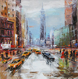 Home Decorative Canvas Painting with Fame for Modern City pictures & photos