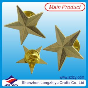 3D Star Shape Metal Lapel Pin Custom Pin Badge pictures & photos
