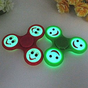 Silicon ABS Plastic Lighting Smiling Face Luminous Hand Fidget Spinner pictures & photos