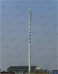 Galvanized Monopole Telecom Steel Tower